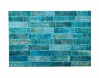 Patchwork rug Blue 115