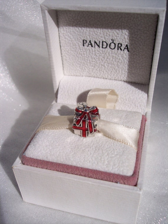 Authentic Pandora Present Gift Box Red Enamel By Jewelselagant