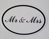 Mrs & Mrs Wedding Car Magnet Signs