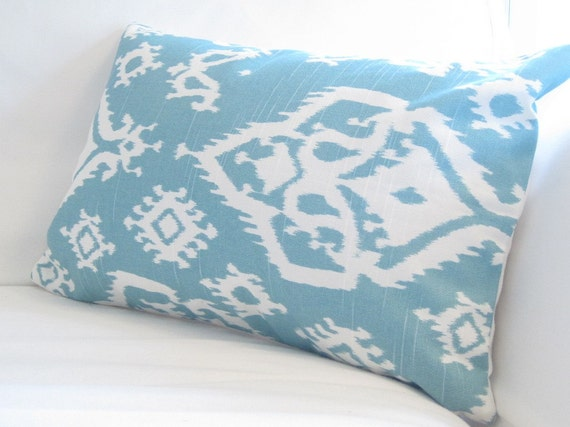 lumbar pillow cover blue chair pillows 12x16 inch decorative pillow