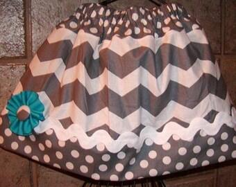 Gray Chevron..Girls Skirt, Twirl skirt. Available in 0-12 months, 1/2, 3/4, 5/6, 7/8, 9/10 Bigger Sizes Available