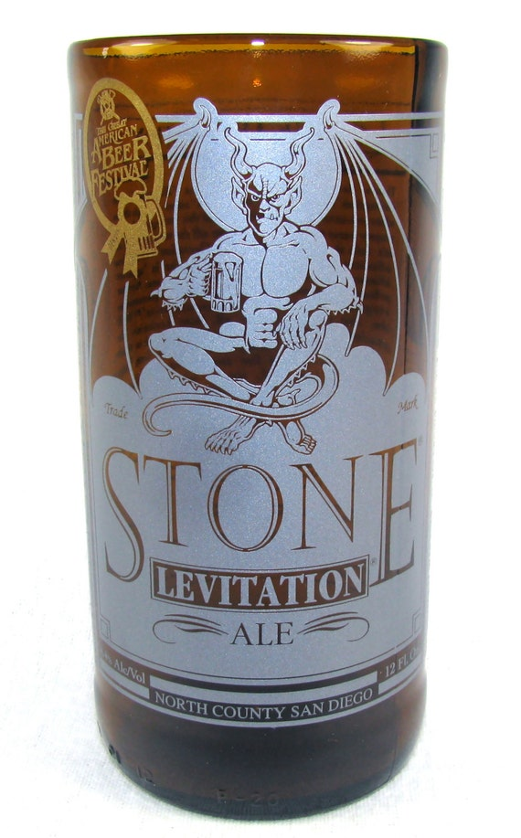 Stone Levitation Beer : Stone levitation ale beer recycled glass by reflamedglassworks