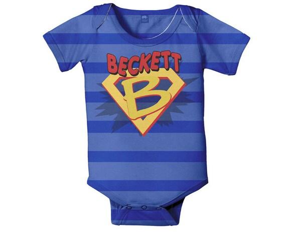 Superhero Bodysuit, Personalized Boy's Baby One Piece Super Hero Costume With Cape, Custom Onepiece, Baby Boy Clothing