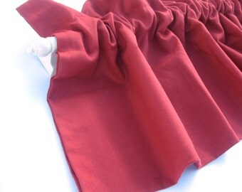 """CLEARANCE - was 28 Valance Curtain Red Solid 43"""""""