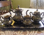 Antique Meriden B. Company Tea Set