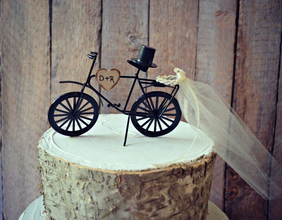 Bicycle-wedding-cake topper-sports-grooms