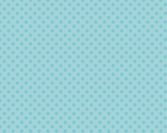 Aqua Tone-on-Tone Small Dots from Riley Blake