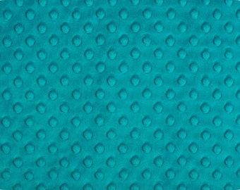 Teal Dimple Minky From Shannon Fabrics