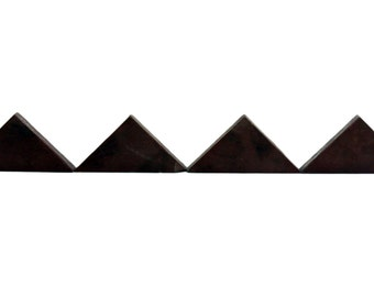 Set of 4 burgundy triangle tiles