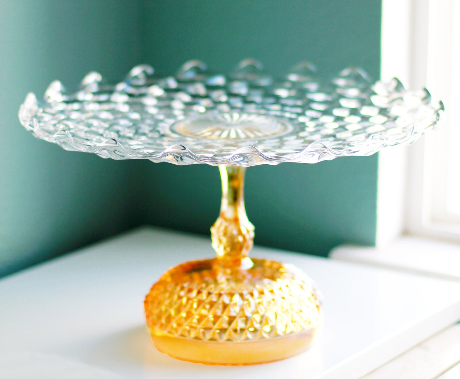 Cake Stand in Golden Peach for Gold Weddings 14