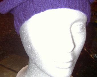 Egglant purple beret