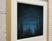"Art Print - ""Through the Darkness"" -  Print of Acrylic Painting - 8x10"