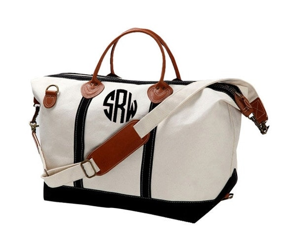 Monogram Canvas Weekender Bag Large Great Gift For