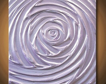 Painting Light Purple Abstract Acrylic Lavender Lilac Sculpture Vortex of Creation Amethyst 12x12 High Quality Original Modern Fine Art