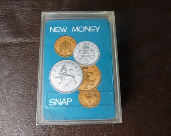 Vintage New Money Snap Card Game