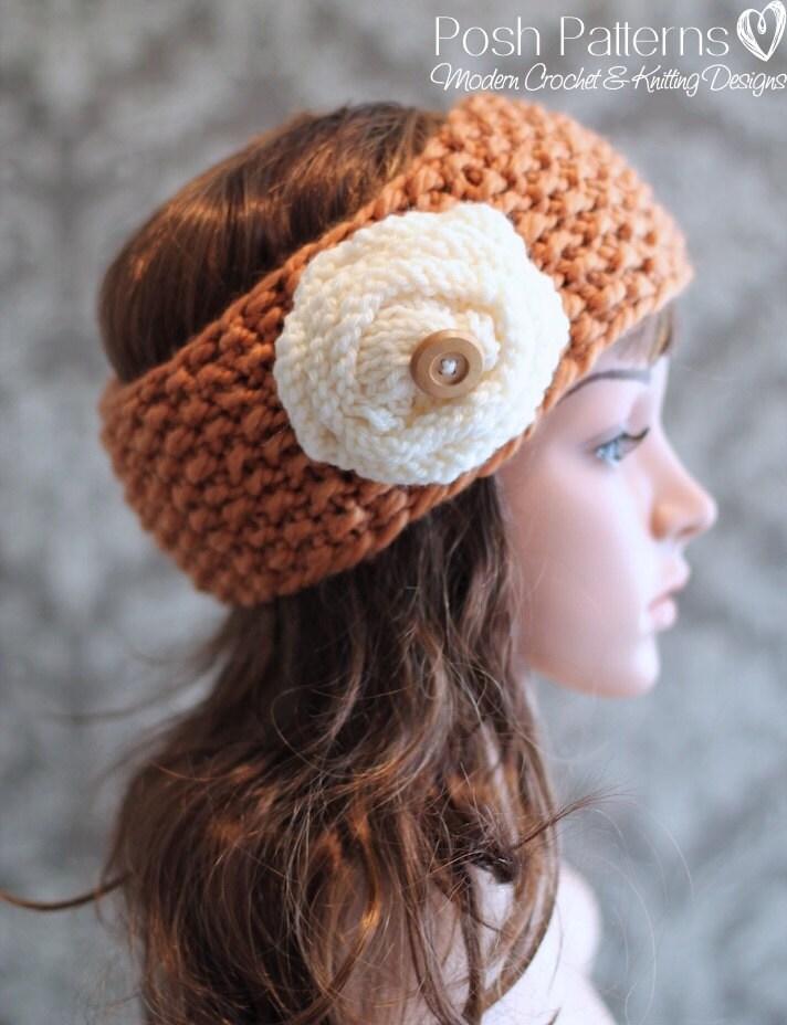 Knitting Headbands For Beginners : Knitting pattern knit headband baby
