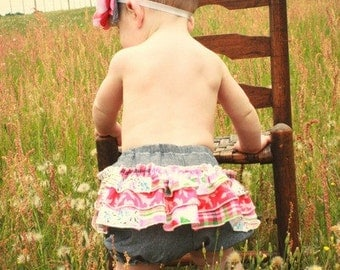 Baby Emma's Ruffle Bottom Bloomers PDF Pattern Sizes Newborn to 18/24m