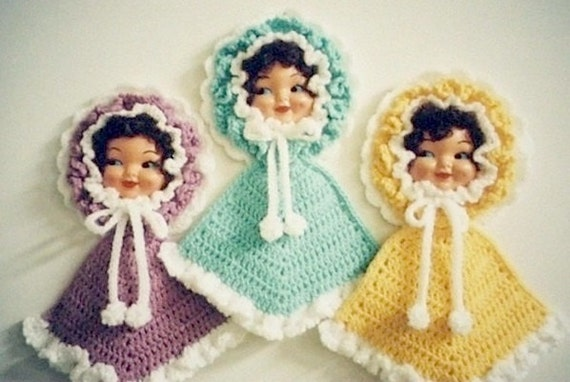 PDF PATTERN - Crochet Dolly Doll Potholder Pattern by Anne Oakleaf of JAO Enterprises Inc - Excellent for Bazaars