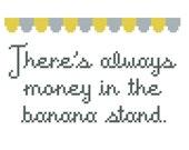 Arrested Development Banana Stand cross stitch - PATTERN