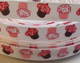 3/8 Cupcakes Ribbon- 3 Yards