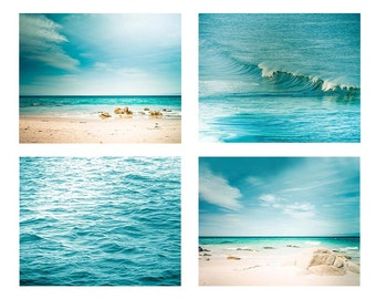 gallery wall prints ocean print coastal wall art photography set nautical decor beach art fine art photography teal home decor blue aqua