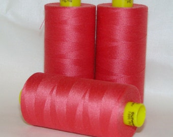 GUTERMANN Mara 100 Polyester Thread One (1) Spool 1,094yd ROSEY LIPS 890