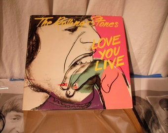 The Rolling Stones Love You Live Double Gatefold Andy Warhol Cover 1977 Original Vintage Vinyl