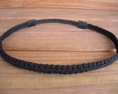 Women's Headband Boho Headband Summer Fashion Accessories Hair Band Forehead Headband in Black Braid Trim - Choose color