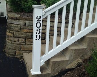 Custom House Number Decal