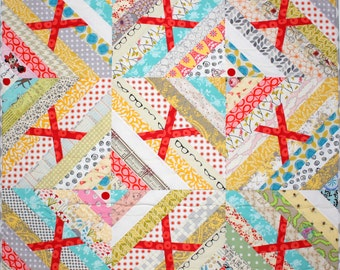 "Baby Kisses Quilt, Girl or Boy Quilt, Modern Quilt, 36"" x 36"" Quiltsy"