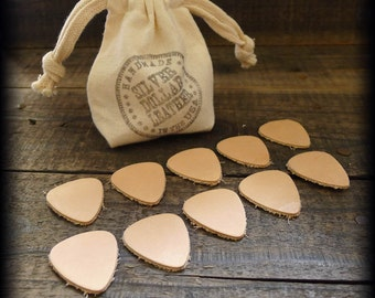 TEN Leather Guitar Picks