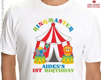 Circus Birthday Shirt for Adults -- Personalized Carnival Birthday Shirt