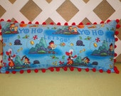 Jake & the Neverland Pirates Pillow in Blue and Red for Little Boys