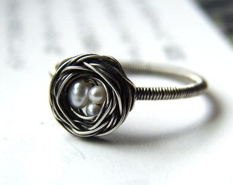 Silver Nest Ring