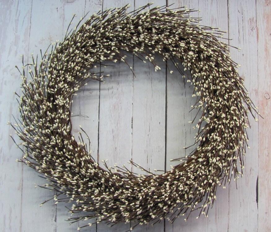Large Wreath - Winter Ivory Wreath - Wedding Wreath - Christmas Home Decor - Christmas Wreath - Foyer Wreath - Fireplace Decor - Shower