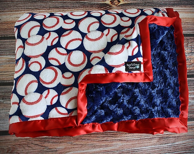 Minky blanket, Baby blanket, sports blanket, baseball minky blanket, baseball blanket, sports minky blanket, blanket for boy, soft blanket