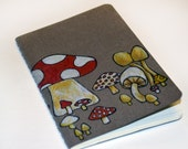 Moleskine mini notebook - Mushroom illustration