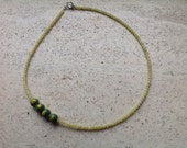3 green necklaces 40 cm, 50cm and 75 cm