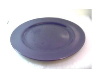 Vintage Franciscan El Patio Dinner Plate - Glossy Eggplant Purple - 1940's