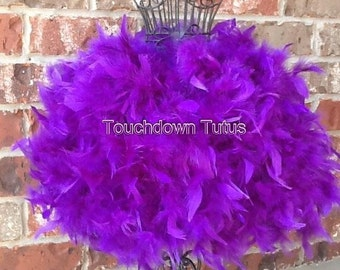 Purple feather tutu or customize your own