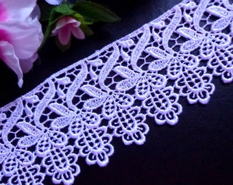 Venise Lace trim, 3 inch-white price for 1 yard