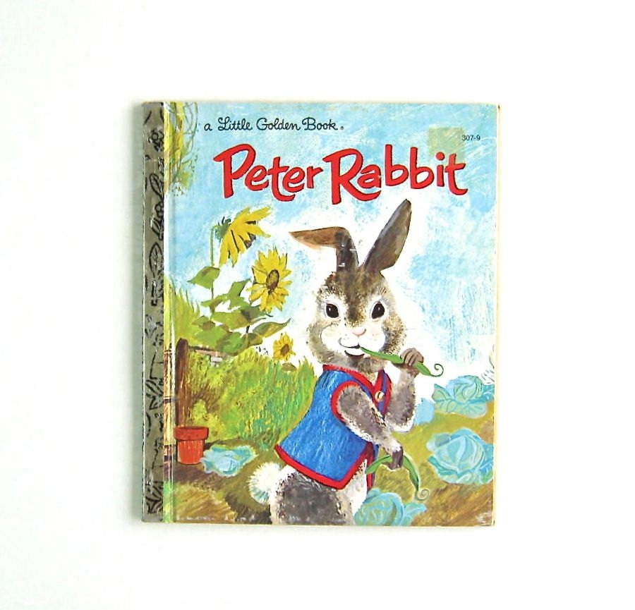 Vintage Little Golden Book Peter Rabbit Easter Beatrix