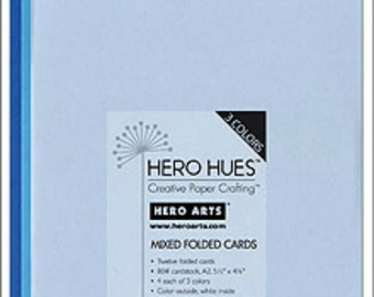 Hero Arts Sea Mixed Folded Cards PS571 blue powder azure cerulean