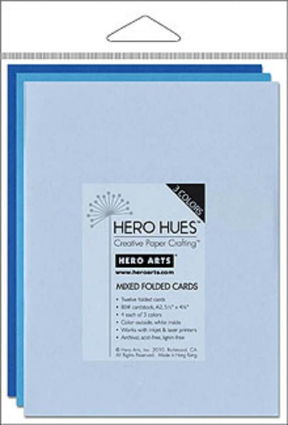 Hero Arts Sea Mixed Folded Cards PS571 blue powder azure cerulean