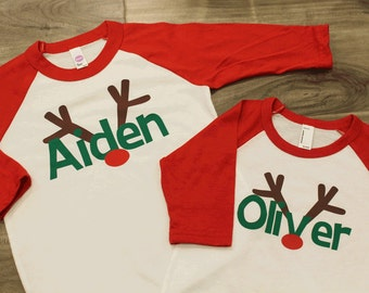 Kids christmas shirt | Etsy