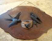 Reserved for n54 Brienz Swiss Wall Plaque with Swallow