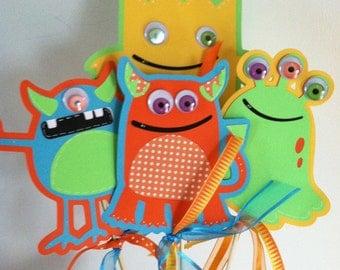 Monster Centerpieces, Monster Birthday, Halloween Centerpieces, Little Monster Centerpieces, CUSTOM ORDER