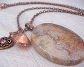 Ocean Jasper Necklace (nature lover, gift for her, layering jewelry, womens fashion, OOAK)