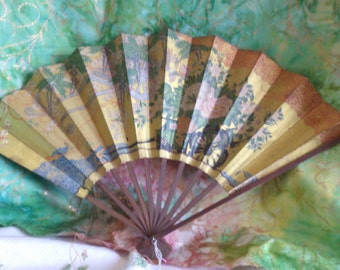 REDUCED  Japan  Air Line Collectable Flower Fan