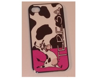 Personalized Iphone Case - Cow Spots, Personalized iPhone Case, iPhone Case, iPhone Cover, Monagram iPhone Case
